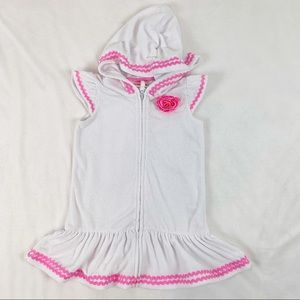 Flapdoodles girls full zip hooded coverup